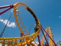 Roller Coaster. Denver, Colorado-July 21, 2011: Roller coaster at the Elitch Gardens Theme Park in Denver, Colorado Stock Photo