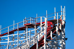 Roller coaster detail Stock Photo