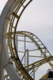 Roller Coaster Detial. Roller coaster ride detail at the funfair Royalty Free Stock Photo