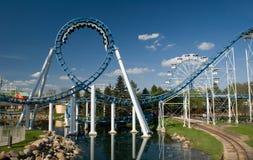 Roller coaster do laço Imagem de Stock Royalty Free