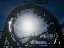 Roller coaster do turbocompressor fotografia de stock royalty free