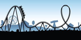 Roller coaster dos desenhos animados Imagens de Stock
