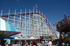 Roller coaster em Santa Cruz California Fotografia de Stock Royalty Free