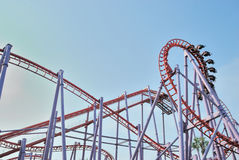 Roller coaster em Tailândia Fotos de Stock Royalty Free