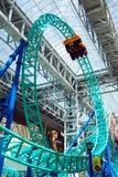 Roller coaster en la alameda de América Imagen de archivo