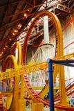 Roller coaster en la alameda del oeste de Edmonton Imágenes de archivo libres de regalías