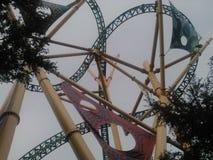 Roller coaster en los jardines de Busch Imágenes de archivo libres de regalías