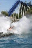 Roller coaster en parque del Europa Foto de archivo libre de regalías