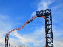 Free Roller Coaster Extreme Ride Upside Down Ride Stock Image - 53158931
