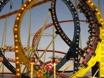 Roller coaster on a fair. In Hamburg Royalty Free Stock Image