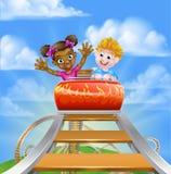 Roller Coaster Fair Theme Park Stock Photo