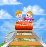 Roller Coaster Fair Theme Park Stock Images