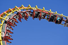 Roller coaster at the fairground. In the Viennese Prater Royalty Free Stock Photography