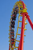 Roller coaster at the fairground Stock Images