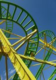 Roller coaster in a fairground Royalty Free Stock Photography