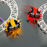 Roller coaster in the fairground Groena Lund Royalty Free Stock Image
