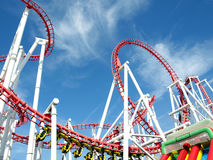 Roller Coaster, Fantasy Island, Skegness. Royalty Free Stock Photography