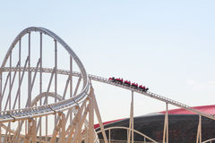 Roller coaster at Ferrari World in Abu Dhabi Stock Image