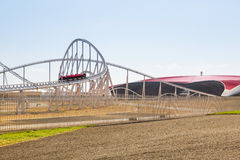 Roller coaster at Ferrari World in Abu Dhabi Stock Photos