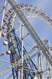 Roller coaster and ferris wheel Stock Image