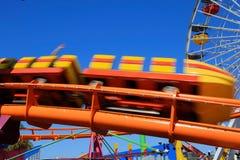 Roller coaster Ferris wheel Santa Monica beach California Stock Photography