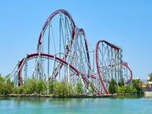 Roller coaster at funfair Royalty Free Stock Image