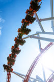 Roller Coaster in funny amusement park. Stock Image