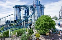 Roller coaster futurista Foto de archivo libre de regalías