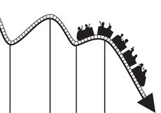 Roller coaster graph Royalty Free Stock Images