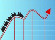 Roller coaster graph Stock Photo