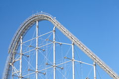 Roller coaster. High Roller coaster and blue sky Stock Images