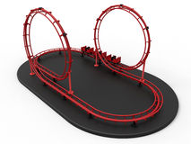 Roller coaster illustration. 3D rendered illustration of a roller coaster. The object is isolated on a white background with soft shadows royalty free illustration