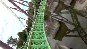 Roller coaster stock footage