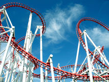 Roller coaster loops, Skegness. Stock Images