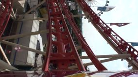 Roller coaster loops stock video footage