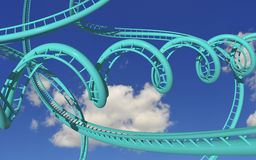 Roller coaster louco Fotos de Stock Royalty Free