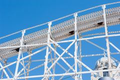 Roller Coaster at Luna Park, Melbourne. Scenic railway at Luna Park, Melbourne, Australia Stock Images
