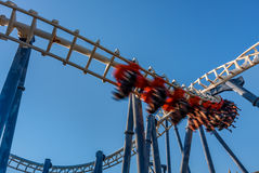 Roller coaster in Luna Park. Royalty Free Stock Images