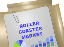 Roller Coaster Market concept Royalty Free Stock Images