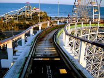 Roller Coaster in Myrtle Beach. Roller Coaster in the heart of Myrtle Beach Royalty Free Stock Photography