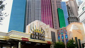 New York-New York Hotel and Casino on the Las Vegas Strip in Las Vegas, USA, stock footage