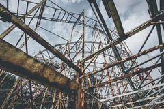 Roller coaster objects and places lost in time Stock Photos
