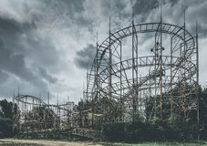 Roller coaster objects and places lost in time Royalty Free Stock Photos