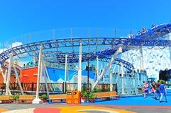 roller coaster at ocean park hong kong stock image