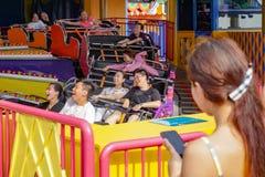 Roller coaster in ocean park,, Hong Kong, May 2018 stock photos