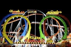 Roller Coaster at the Oktoberfest Stock Photos