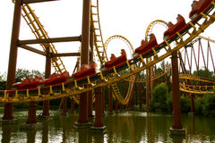Roller coaster. In Parc Asterix, next to Paris Royalty Free Stock Photography