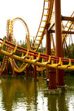 Roller coaster. In Parc Asterix, next to Paris Royalty Free Stock Photo