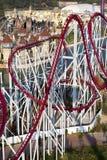 Roller coaster path Stock Photos