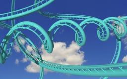 Roller coaster pazzesco Fotografie Stock Libere da Diritti